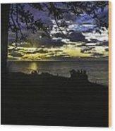 Moody Blue Wood Print by Blanca Braun