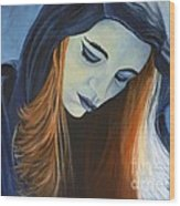 Moody Blue Wood Print