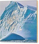 Moody Blues Iceberg Closeup In Saint Anthony Bay-newfoundland-canada Wood Print