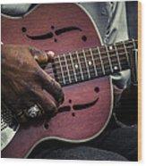 Moody Blues On Steel Wood Print