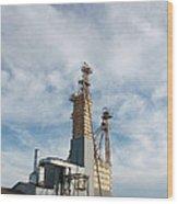 Moody Feed Tower Wood Print