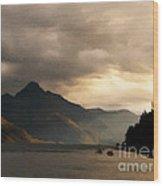 Moody Lake Wood Print