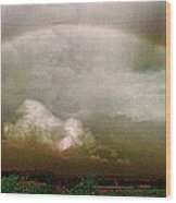 Moody Rainbow Panorama Wood Print