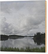 Moody Sky Over Campobello Bay Wood Print