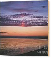 Moody Sunset Wood Print