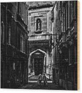 Moody Venice Wood Print