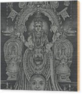 Mookambika Devi Wood Print by Asha Sasikumar