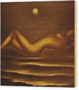 Moon Bathing -original Sold- Buy Giclee Print Nr 36 Of Limited Edition Of 40 Prints  Wood Print