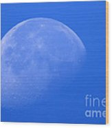Moon Craters Wood Print