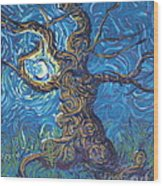 Moon Dance Wood Print