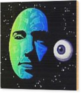 Moon Eye Bi Color Wood Print