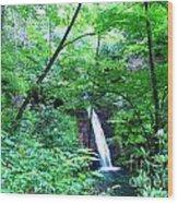 Moon Falls Wood Print