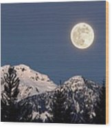 Moon Glow Whistler Canada Wood Print by Pierre Leclerc Photography