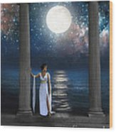 Moon Goddess Wood Print