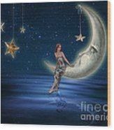 Moon Goddess Wood Print by Juli Scalzi