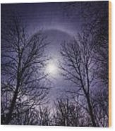 Moon Halo Wood Print