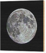 Moon Hdr Wood Print