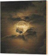 Moon In May Wood Print