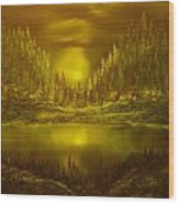 Moon Lake Reflection-original Sold- Buy Giclee Print Nr 33 Of Limited Edition Of 40 Prints  Wood Print