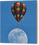 Moon Landing Wood Print