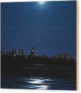 Moon Light Wood Print