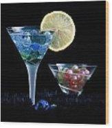 A Creative Cocktail - Moon Light Cocktail Lemon Flavour 1 Wood Print