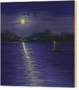 Moon Light Wood Print