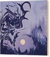 Moon Madness Wood Print