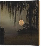 Moon Mists Wood Print