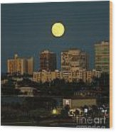 Moon Over Bal Harbour Wood Print