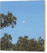 Moon Over Brandon Wood Print
