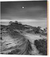 Moon Over Broken Hill Wood Print