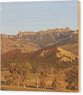Moon Over Cimarron Wood Print by Eric Glaser