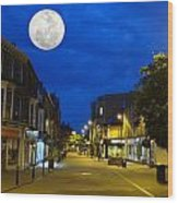 Moon Over Harrogate Uk Wood Print