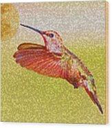 Moon Over Hummingbird Wood Print