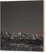 Moon Over Mt. Werner Wood Print
