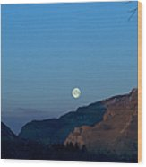 Moon Over Rattlesnake Mountain   #2785 Wood Print