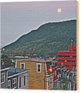 Moon Over Saint John's-nl Wood Print