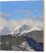Moon Over The Rockies - Panorama Wood Print