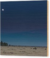 Moon Over Watch  Wood Print