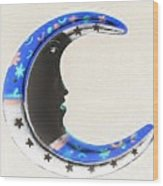 Moon Phase In Inverted Colors Wood Print