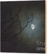 Moon Ring Wood Print