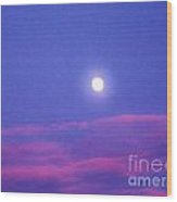 Moon Rise II Wood Print