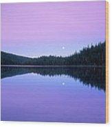 Moon Rise Wood Print
