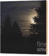 Moon Rising 02 Wood Print by Thomas Woolworth