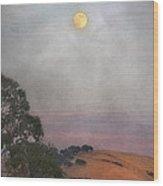 Moon Rising Wood Print