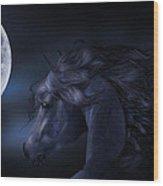'moon Struck' Wood Print