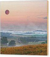 Moon Valley Morning Wood Print