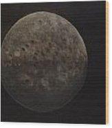 Moon Walk Wood Print