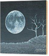Moon Worship Wood Print